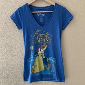 Disney Beauty And The Beast Women's V-Neck T-Shirt